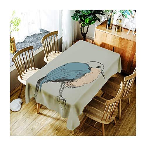 ZHAOXIANGXIANG l'art Minimaliste Tapis De Table Fashion Motif Oiseaux Ligne Art Décoration Maison Pique-Nique Dîner Table Cloth Impression Taille Assorties,130Cm×180Cm