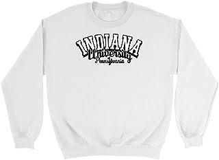 Official NCAA Indiana University Pennsylvania Hawks - CD7DG02 Mens/Womens Boyfriend Sweatshirt