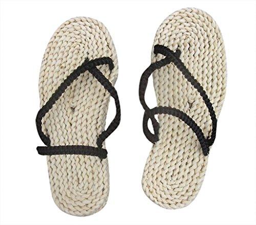 DAZCOS Adult/Kids Handmade Luffy Straw Sandals Cosplay Shoes[US 4 - US 13] (8.5 M US) Grey