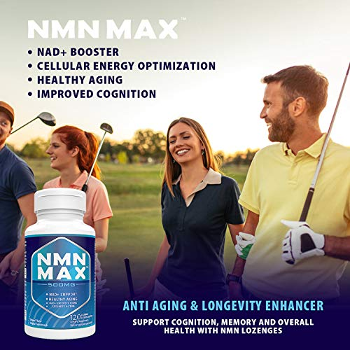 51CDiGKewqL. SL500  - NMN 500mg Sublingual, NAD+ Booster Supplements, Fast-Acting NMN Nicotinamide Mononucleotide,Boost NAD Levels for Anti-Aging, Energy supplement, Cellular Repair & Healthy (1 Pack 120 Lozenges)