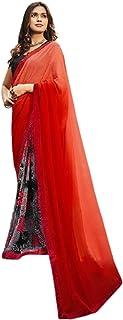 بلوزة صيفية ناعمة من قماش الساري مطبوع عليها صورة امرأة هندية نصف أحمر 6221