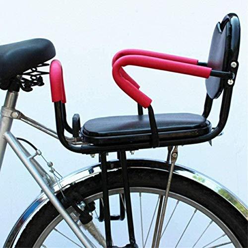 Asiento Trasero de Bicicleta para Niños con Reposabrazos y Pedales Portaequipajes de Seguridad Universal Silla de Bicicleta para Bebé de 2 a 8 Años
