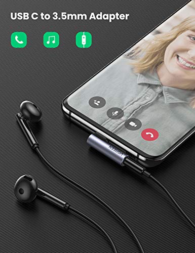 UGREEN USB C Kopfhörer Adapter Typ C Aux Adapter mit 90 Grad Winkelstecker USB C auf 3.5 Klinke Adapter kompatibel mit Huawei Mate 30 Pro/P40 Pro/P30 Pro/P20/P20 Pro OnePlus 8/8Pro/7T/7T Pro