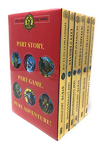 Fighting Fantasy Series 1 and 2 Collection 6 Books Set