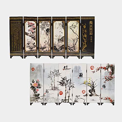 UUMFP Petit Paravents Chinois Antique Laque Accueil PC de Bureau Décoration de Table Fleurs de pruniers Arts décoratifs Cadeau Cadeaux