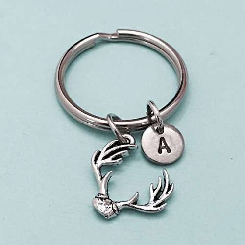 Deer Antler Essential Oil Keychain with Hot Pink Beads and Silver Arrow Charm  Real Antler Keychain for Women  Antler Slice Keychain