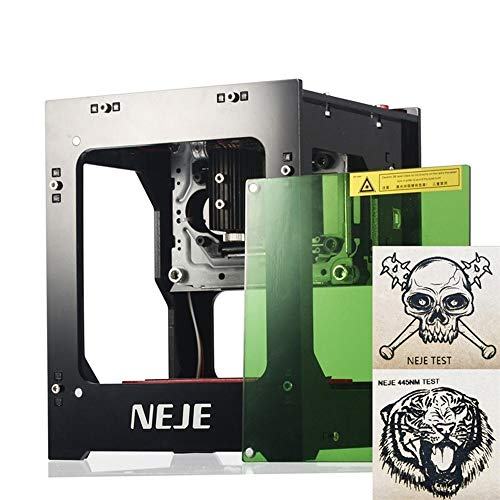 Upgraded 3000mW High Power Laser Engraver Printer, Professional DIY Mini Laser Engraving Cutter USB Carver Machine for Hard Wood/Rubber/Leather/Cut Paper