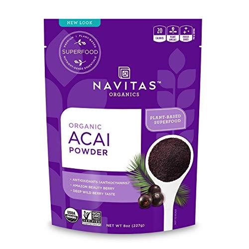 Navitas Organics Acai Powder, 8 oz Bag, 76 Servings — Organic, Non-GMO, Freeze-Dried, Gluten-Free