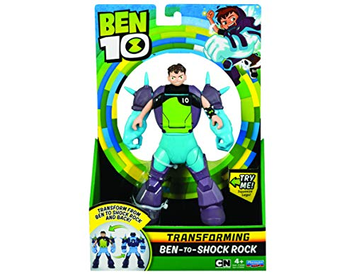Ben 10BEN29200Shock Rock Ben a Alien Transforming Figure