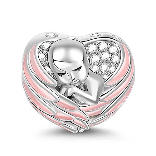 GNOCE - Abalorio de plata de ley 925 para pulsera o collar, diseño de familia