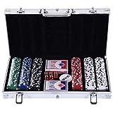 Homcom Malette Pro de Poker Coffret Pro Poker 38L x 21l x 6,5H cm 300 jetons 2 Jeux...