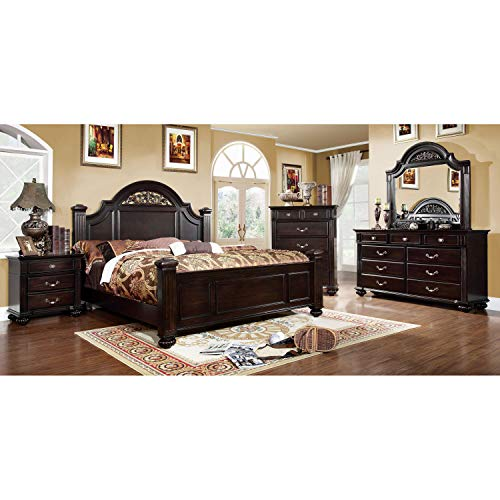 247SHOPATHOME bedroom-furniture-sets, King, Walnut