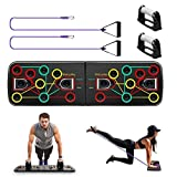 Oriori 13 en 1 Push Up Board avec Poignées de Résistance, Pliable Planche de Musculation Muscles et Appareil de Fitness, Système d'Entrainement pour Abdominaux à Domicile