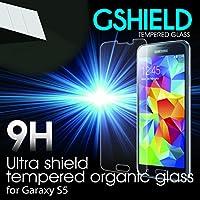 【日本正規代理店品】Gshield 強化ガラス 液晶保護フィルム Galaxy S5用強化保護フィルム ガラスフィルム 衝撃吸収 硬度9H 液晶保護シール 気泡ゼロ カッターでも傷つかない 日本語説明書付き 30日間返金保証