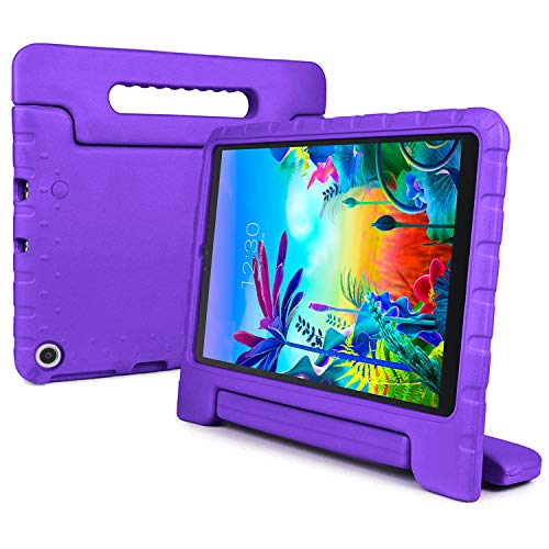 REGOKI Case for LG G Pad 5 10.1, Shockproof Lightweight Convertible Handle Stand Kid-Proof Protection Cover Compatible with LG G Pad5 LM-T600 / LM-T605 10.1-Inch Tablet 2019 Released (Purple)