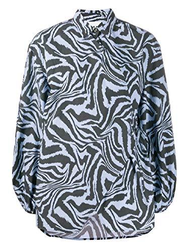 Luxury Fashion | Ganni Dames F4331681 Blauw Katoen Blouses | Lente-zomer 20