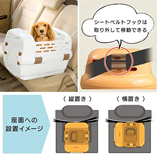 アイリスオーヤマドライブペットキャリーMサイズオレンジPDPC-600