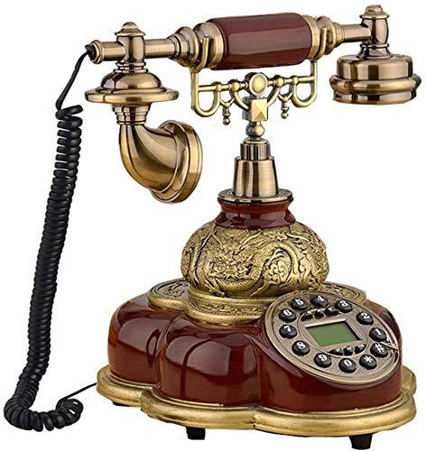 ZZTX Teléfono / 1800 MHz Tarjetero SIM Teléfono Fijo Teléfono Fijo inalámbrico Home Office Hotel,Rojo