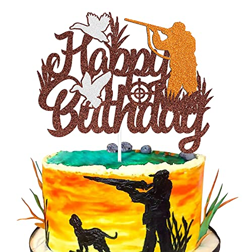 Duck Hunting Cake Topper Deer Hunter Gone Hunting Camping Theme for...