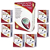 Advocate Redi-Code Plus Test Strips Package - 6 Boxes (300ct) with Non-Speaking Blood Glucose Meter