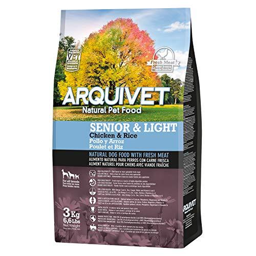 Arquivet Pienso Natural para Perros - Senior & Light Pollo y arroz - 3 Kg