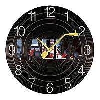 掛け時計 木製 ニキ ラウダ ウォールクロック 壁掛け時計 アナログ おしゃれ 装飾 北欧 連続秒針 静音 壁掛け時計 掛時計 モダン インテリア 大数字 見やすい 電池式 自宅 寝室 部屋飾り 贈り物 直径25/30cm プレゼント レトロなスタイル