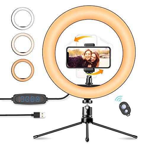 Ring Light with Stand,Ring Light,Ring Light for iPhone and Laptop,Selfie Ring Light, Ring with Stand and Phone Holder for Makeup/Live Stream/YouTube