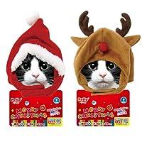 ペティオ 猫用 クリスマス変身ほっかむり (サンタ)