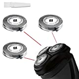 SH30 Replacement Heads for Philips Norelco Electric Shaver Series 1000, 2000, 3000 and S738 Click and Style with 9 Durable Sharp Blade, Easy Cut, 3 - Pack