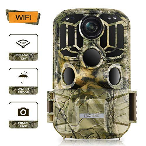 TOGUARD WiFi Wildlife Camera Trail Camera 20MP 1296P Hunting Camera with 120°...