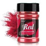 Epoxidharz Farbe metallic, Seifenfarbe - 60g rot Pulver - für die Seifenherstellung, Mica Powder,...