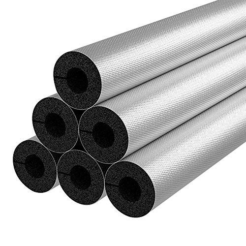 Selbstklebende Aluminium Film Isolierung Rohr, PPR-Wasserrohr-Frostschutz-Schutzhülle Außen, 1 M Schwarze Rohrisolierung, Wasserdicht Und Flammhemmend, Verdickung: 20 Mm / 30 Mm