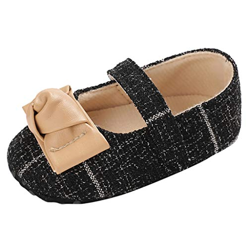 Ucoolcc Baby Mädchen Kleinkind Säuglings Bowknot Taufe Schuhe rutschfeste Mary Jane Dance Ballerina Hausschuhe