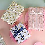ZWOOS Geschenkpapier, 6 Blatt Geschenkpapier Valentinstag Geschenkpapier Geburtstag Geschenkpapier Gold Edel für Urlaub, Geburtstag, Hochzeit, Ostern, Halloween Geschenk (70 * 50cm) - 3