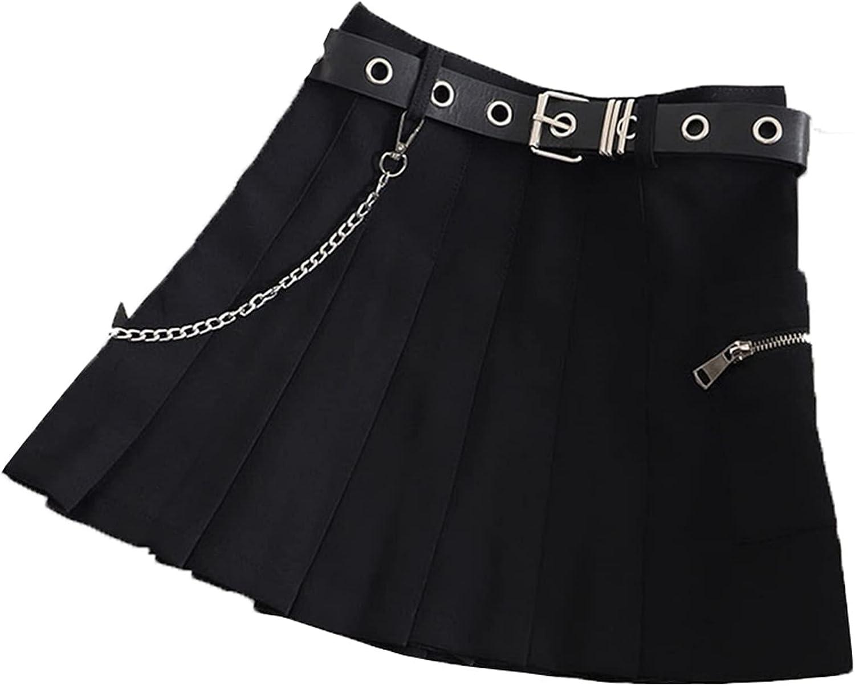 Women Plaid Pleated A-Line Skirt Sashes Fashion High Waist Sweet Harajuku Summer Casual