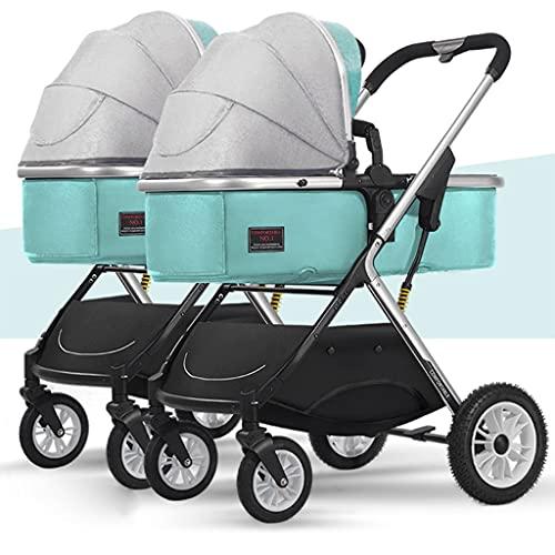 Double Stroller, Cochecito En Tándem For Camiones Y Cochecitos For Bebés Y Niños Pequeños Doble Cochecito For Gemelos, Compacto Easy Fold Sentado Y Modo De Mentira De Almacenamiento De Gran Capacidad