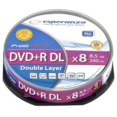 Esperanza 1245 DVD vergine 8,5 GB DVD+R DL 10 pezzo(i)