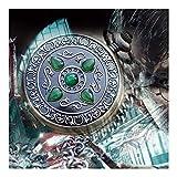 Reloj de bolsillo elegante clásico.Reloj de bolsillo de piedra mágica, reloj de bolsillo mecánico de mágica industrial retro, reloj de bolsillo de ojo de gato, hombres y mujeres colgando reloj de coll