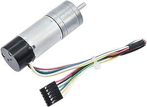 Azssmuk Encoder Metal Gearmotor Geared Motor DC 12V 15RPM for Robotics,RC Car Model,Custom Servo, Arduino and 3D Printers,DIY Engine Toy