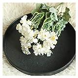 JSJJAES Flores Artificiales Corderos de Seda Oreja Hoja Spray Vegetal Flores Artificiales decoración del hogar Flores secas Artificiales decoración de Fiesta Flores secas (Color : G1PC)