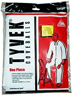 Trimaco Painter's Tyvek HD Heavy-Duty Coveralls, White, Large,14122 by Trimaco