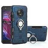 QiongNi Case for Motorola Moto X4 XT1900-1 XT1900-2 XT1900-4 XT1900-5 XT1900-6 XT1900-7 / Moto X4 2018 Case Cover + 360 Degree Rotating Ring Holder Kickstand Blue
