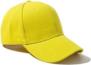 ZWFMX Summer Autumn Fashion Soild Men Women Baseball Cap Adhesion Hat HipHop Adjustable Cool Sunhat Present Fashion (Color : Orange)