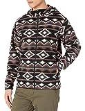Amazon Essentials Men's Long-sleeve Hooded Full-zip Polar Fleece Jacket, Brown Geo, Large