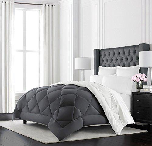 Beckham Hotel Collection Goose Down Alternative Reversible Comforter -...