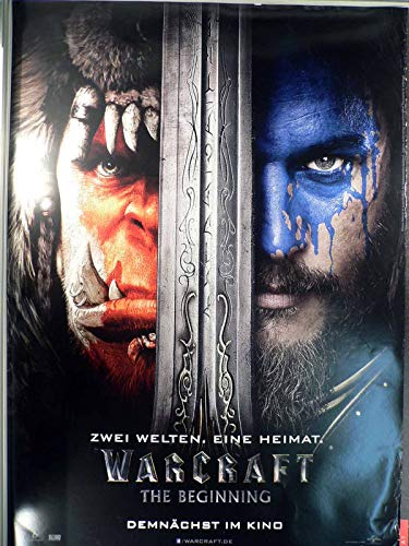 Warcraft: The Beginning - Teaser - Travis Fimmel - Filmposter 120x80cm gerollt