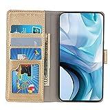 Brieftasche Schutzhülle für Oppo A53s Hülle mit Kartenfach Etui Standfunktion & Magnetisch Handyhülle Leder Flip Lederhülle für Oppo A53s (Gold)