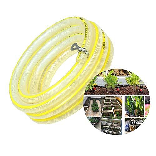 HH- Gartenschläuche/Wasserschläuche Flexibler Gartenschlauch 20mm, für Wasserblumen/Autowaschanlage/Haustierbad/Fensterreinigung, Hochwertiges Spiral-Mesh-Textil, Keine Undichtigkeiten