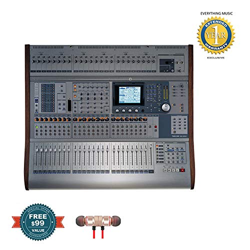 Affordable Tascam DM4800 64-channel Digital Mixing Console with MU-1000 Meter Bridge includes Free W...