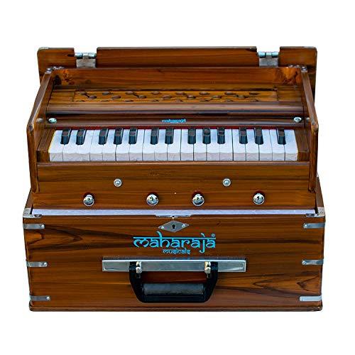Maharaja Musicals, Kirtan Harmonium, tragbare In-Flight-Edition, natürliche Farbe, neustes Modell KH2